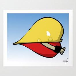 Heart Hat Art Print
