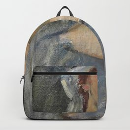 John William Waterhouse - Head study for 'The Enchanted Garden' Backpack