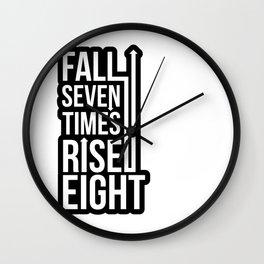 Rise (Black) Wall Clock