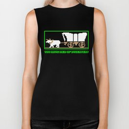 You Have Died of Dysentery - Funny Gaming Quote Gift Biker Tank