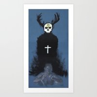 true detective Art Prints featuring True detective by jgart