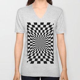 Optical Illusion Hallway Unisex V-Neck