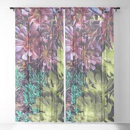 Native Plantings Sheer Curtain