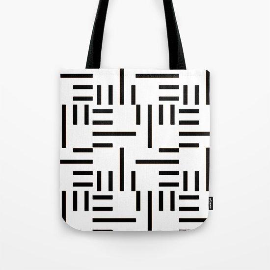 Kemper Black & White Tote Bag