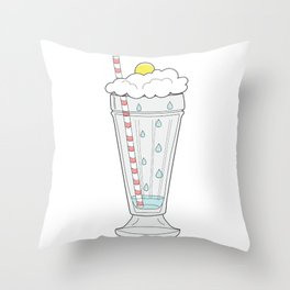 Stormy Milkshake Throw Pillow