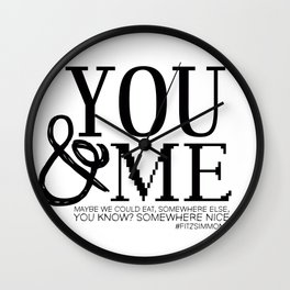 You & Me FitzSimmons Wall Clock