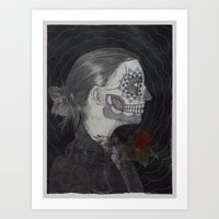 musa Art Prints featuring La Musa (The Muse) by Michael Weaver Fibers