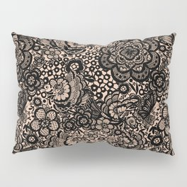 Bronze nude with black lace Pillow Sham