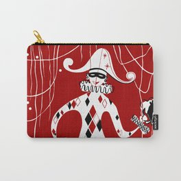Retro vintage harlequin clown music cover Carry-All Pouch