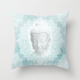 Buddha Dream Mandala Spiritual Zen Bohemian Hippie Yoga Mantra Meditation Throw Pillow