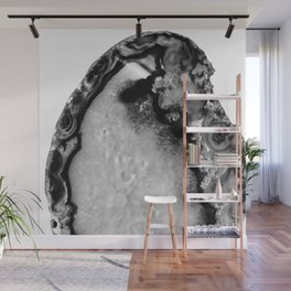 Gray Black White Agate #3 #gem #decor #art #society6 Wall Mural