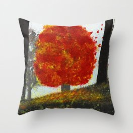 Last Stand for Autumn Throw Pillow