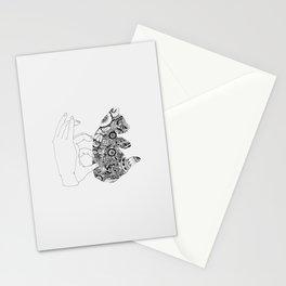 Y en la oscuridad también Stationery Cards