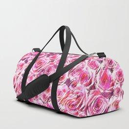 Textured Roses Pink Amanya Design Duffle Bag