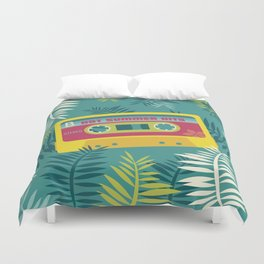 Hot Summer Hits - Retro Tape Duvet Cover