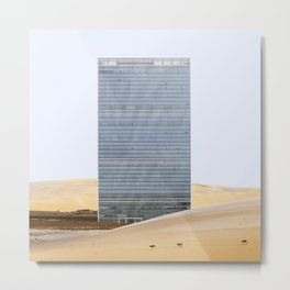 Misplaced Series - United Nations Metal Print