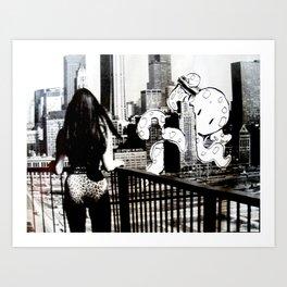 New to Town: Octopus II Art Print