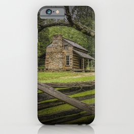 Oliver Log Cabin in Cade's Cove iPhone Case