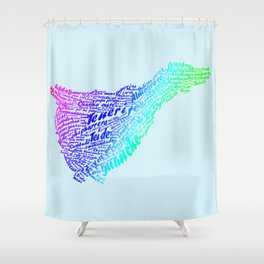 Canary Island Shower Curtain