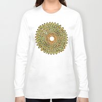70s Long Sleeve T-shirts featuring Peacock Mandala – 70s Palette by Cat Coquillette