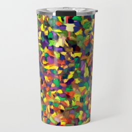 Multicolor Texture Travel Mug