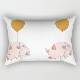 When pigs fly Rectangular Pillow