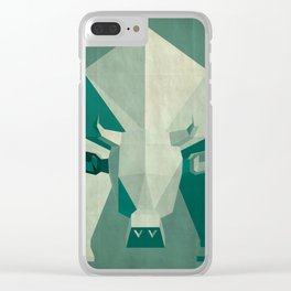 Picasso style abstract cow Clear iPhone Case