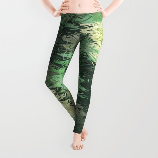 Green Illusions Leggings