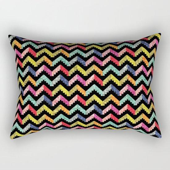 Chevron Multi Color Zigzag Pattern II Rectangular Pillow