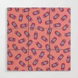 Girl Power Pattern in Pink Wood Wall Art