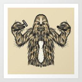 Chewie I Hate Mondays SW Art Print