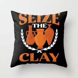 Pottery Clay Throw Pillow