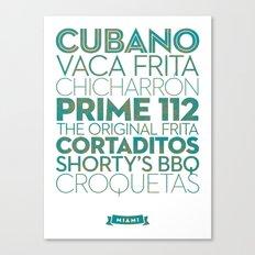 Miami — Delicious City Print Canvas Print