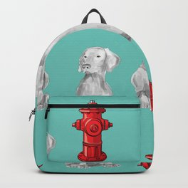 HYDRANTS AND WEIMARANERS Backpack