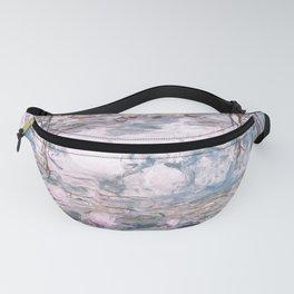 Water Lilies Monet Steel Blue Gray Fanny Pack