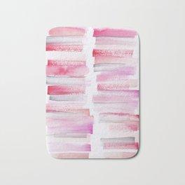 16 | 181101 Watercolour Palette Abstract Art | Lines | Stripes | Bath Mat