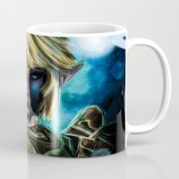 majora Mugs featuring Legend of Zelda Link the Epic Hylian by Barrett Biggers