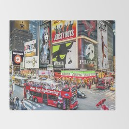 Times Square II Special Edition II Throw Blanket