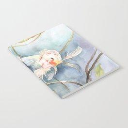 Koi Fish Painting, Underwater Water Lily Notebook