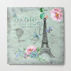 Paris - my love - France Nostalgy- French Vintage Metal Print