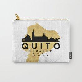 QUITO ECUADOR SILHOUETTE SKYLINE MAP ART Carry-All Pouch