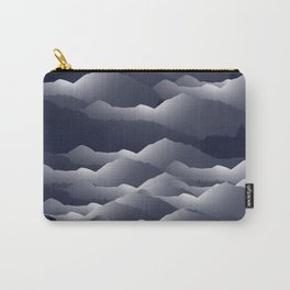 Navy Blue Mountains #2 #decor #art #society6 Carry-All Pouch