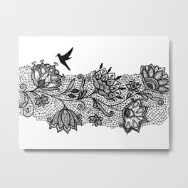 The lace Metal Print