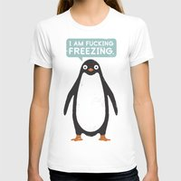 milan T-shirts featuring Talking Penguin by David Olenick