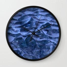 Frozen Waves Wall Clock