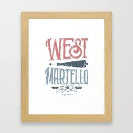 West Martello Framed Art Print