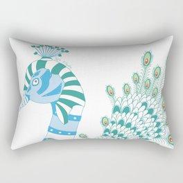 Robot Peacock Rectangular Pillow