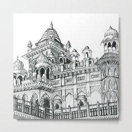 Rajasthan Palace White Metal Print