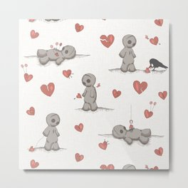 Broken hearted Voodoo Dolls Metal Print