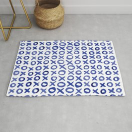 Xoxo valentine's day - blue Rug